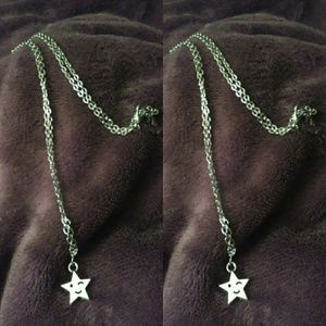 Other - Handmade Smiling Star Silver Necklace